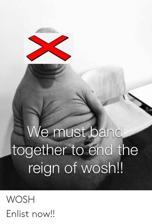 We Must Band Together to End the Reign of Wosh!! WOSH Xi Enlist Now