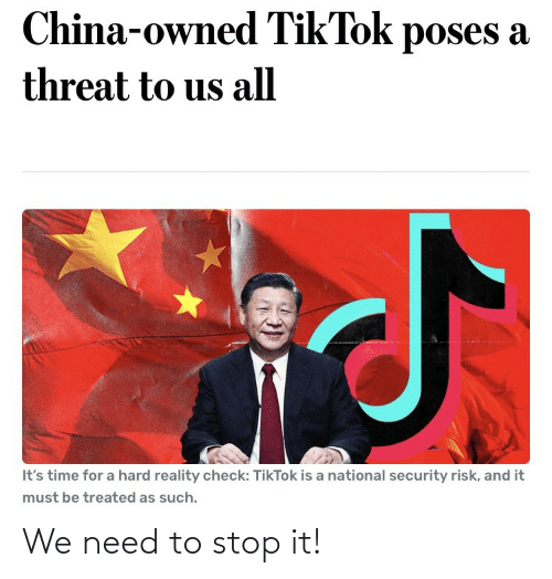 Stop, Stop It, and  Need: We need to stop it!
