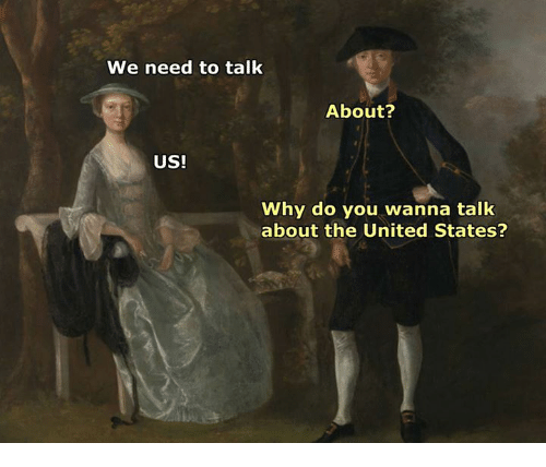 United, Classical Art, and United States: We need to talk  About?  US!  Why do you wanna talk  about the United States?