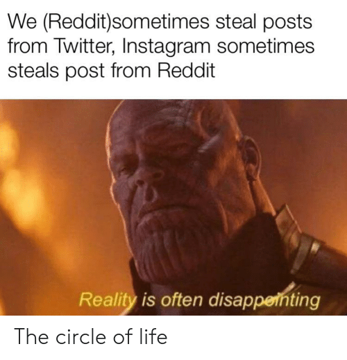 We Redditsometimes Steal Posts From Twitter Instagram
