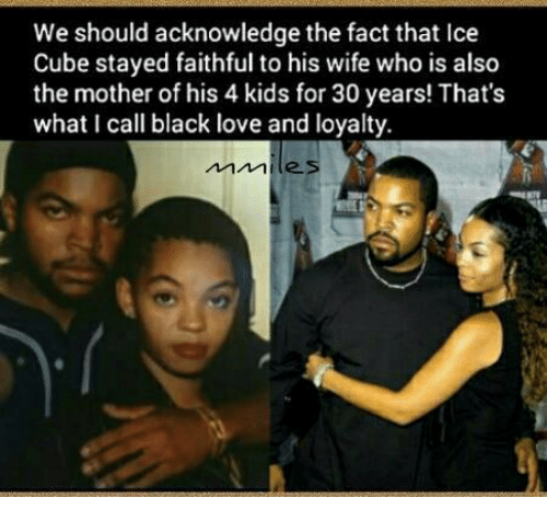 Facts, Ice Cube, And Love: We Should Acknowledge The Fact That Ice Cube