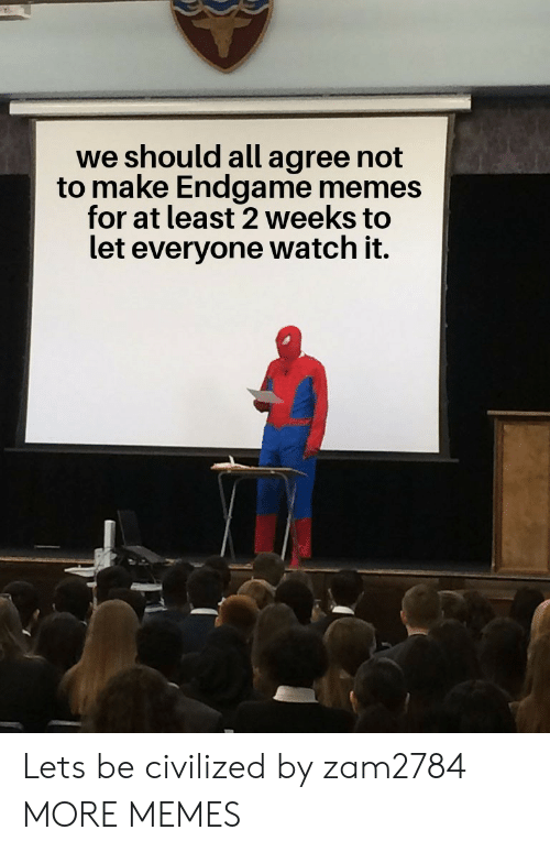 Dank, Memes, and Target: we should all agree not  to make Endgame memes  for at least 2 Weeks to  let everyone watch it. Lets be civilized by zam2784 MORE MEMES