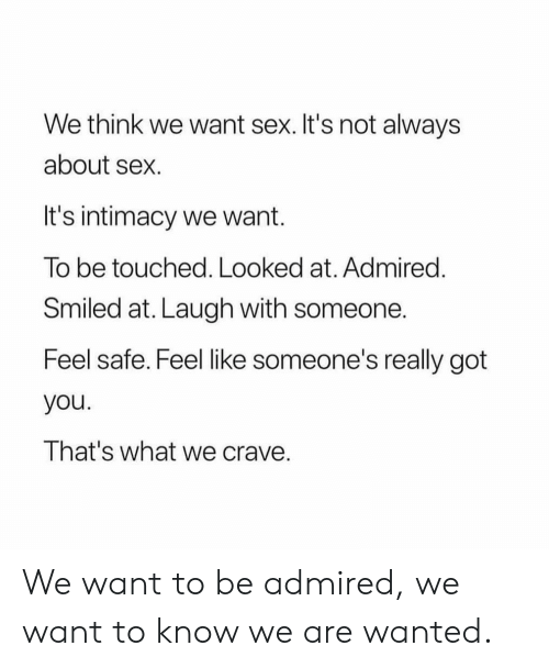 why do we want sex