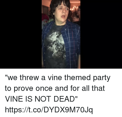 "Party, Vine, and Girl Memes: ""we threw a vine themed party to prove once and for all that VINE IS NOT DEAD"" https://t.co/DYDX9M70Jq"
