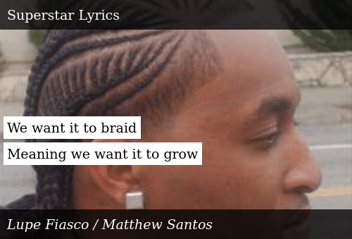 SIZZLE: We want it to braid  Meaning we want it to grow