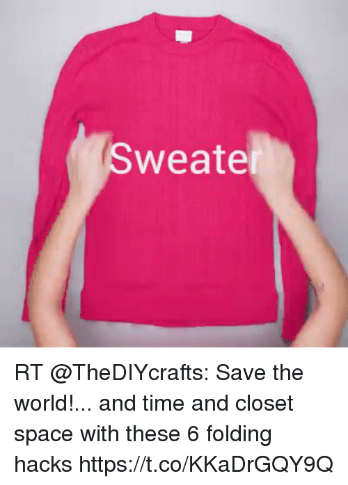 Weate RT TheDIYcrafts Save The World And Time Closet