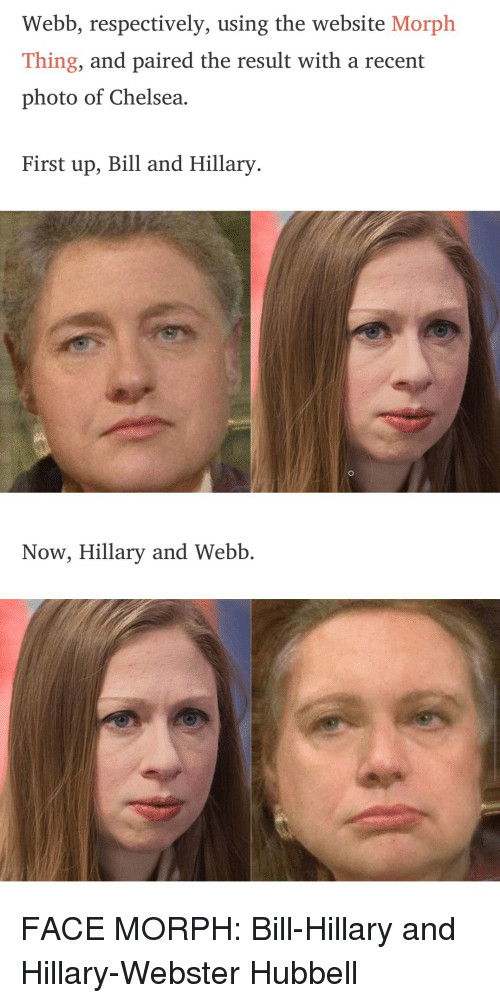 Webb Respectively Using the Website Morph Thing and Paired the