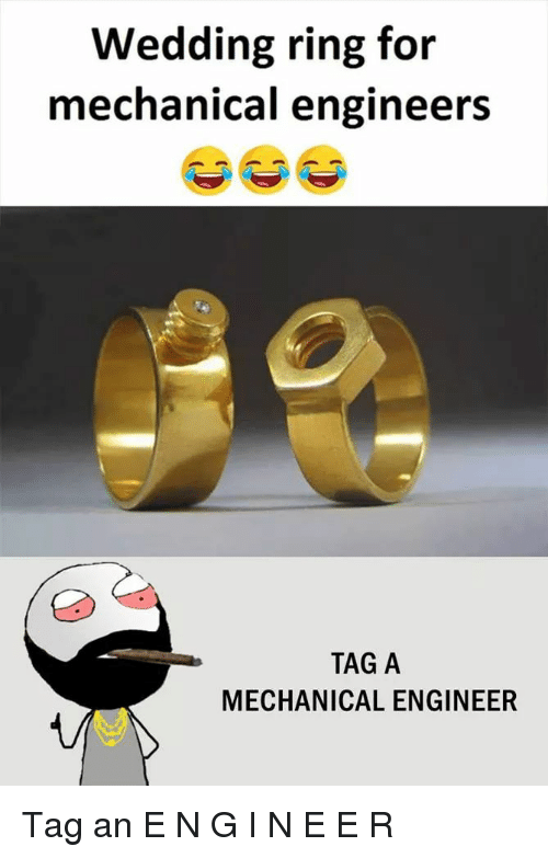 Wedding Ring for Mechanical Engineers TAG a MECHANICAL ENGINEER