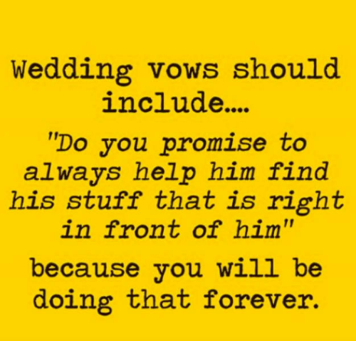Wedding Vows Should Include Do You Promise To Always Help