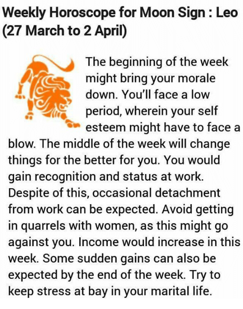 27 march horoscope for leo