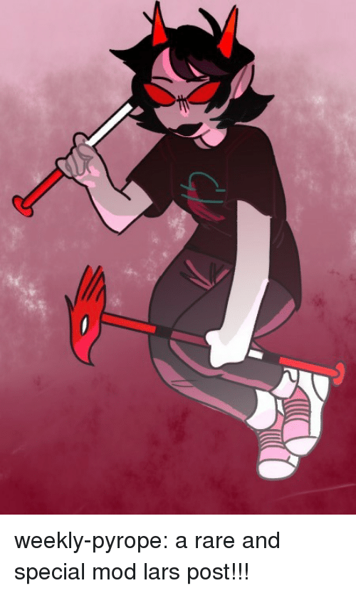 Target, Tumblr, and Blog: weekly-pyrope:  a rare and special mod lars post!!!