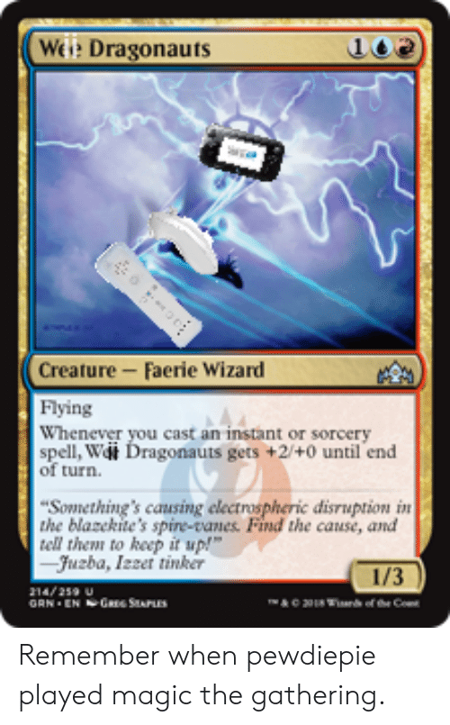 Weie Dragonauts Creature-Faerie Wizard Flying Whenever You
