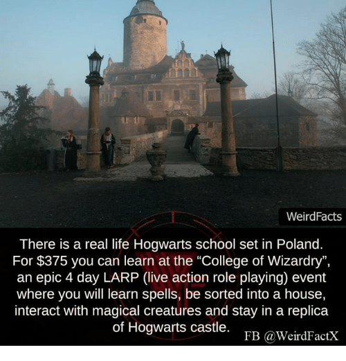 Weird Facts There Is A Real Life Hogwarts School Set In