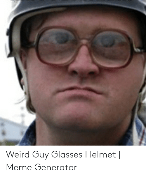 Weird Glasses Guy Meme 1
