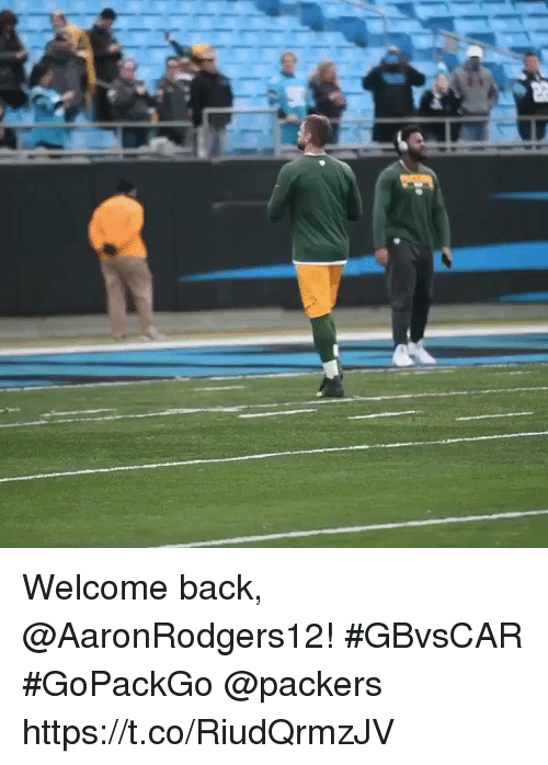 Memes, Packers, and Back: Welcome back, @AaronRodgers12! #GBvsCAR #GoPackGo @packers https://t.co/RiudQrmzJV