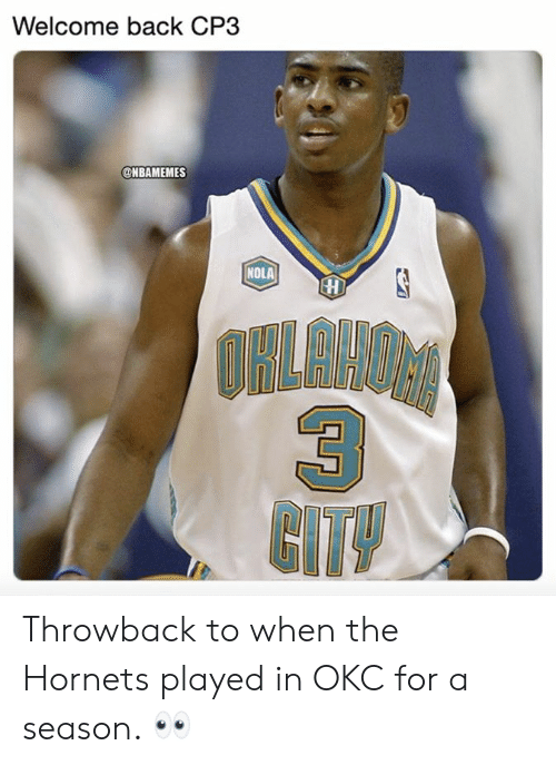 Welcome Back CP3 NOLA COHOALIAHS 3 CITY Throwback to When