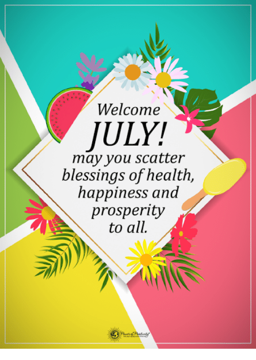 Image result for Welcome July