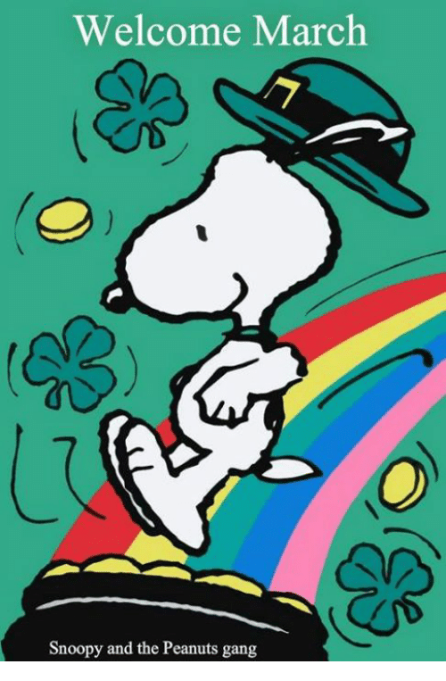 Welcome March Snoopy And The Peanuts Gang Meme On Me Me
