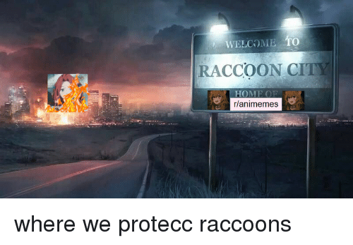WELCOME TO RACCOON CITY HOME OP Rlanimemes | Anime Meme on ME ME
