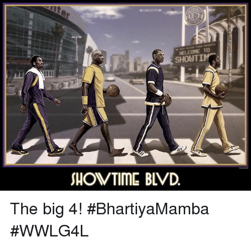 Memes, Showtime, and 🤖: WELCOME TO  SHOUTI  SHOWTIME BLVD The big 4!  #BhartiyaMamba #WWLG4L