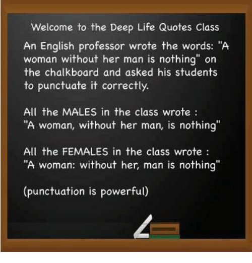 Welcome To The Deep Life Quotes Class An English Professor Wrote The