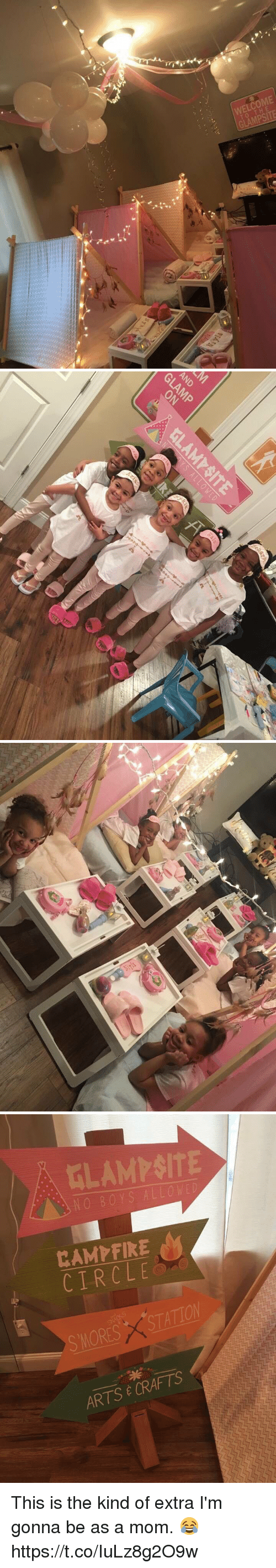 Relatable, Mom, and Arts: WELCOME  TO THE  GLAMPSITE   AND   CIRCLE  X STATION  SMORES CRAFTS  E ARTS This is the kind of extra I'm gonna be as a mom. 😂 https://t.co/IuLz8g2O9w