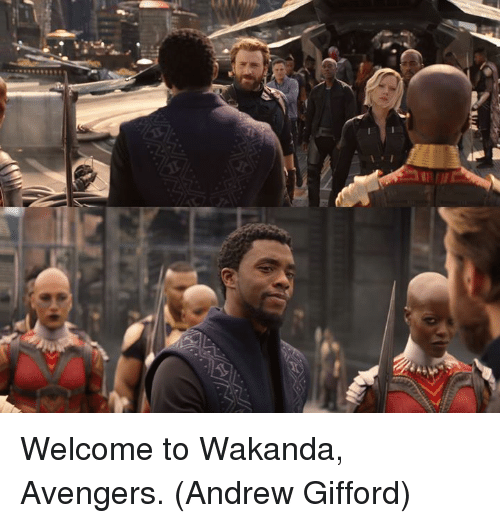 Memes, Avengers, and 🤖: Welcome to Wakanda, Avengers.  (Andrew Gifford)