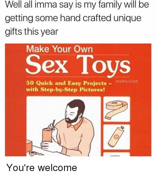 How to make your own sex toys