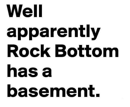 Rock bottom meaning