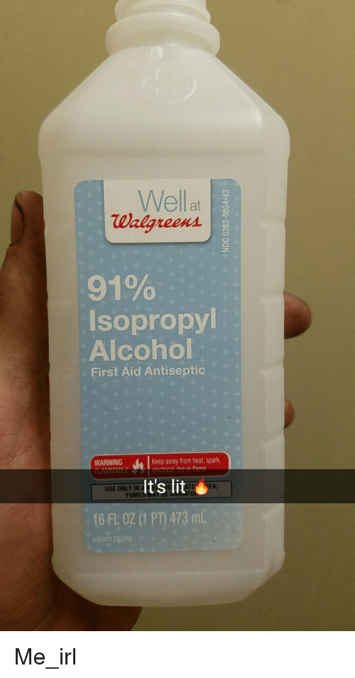 Well at Walgreens 91% Isopropyl Alcohol First Aid Antiseptic