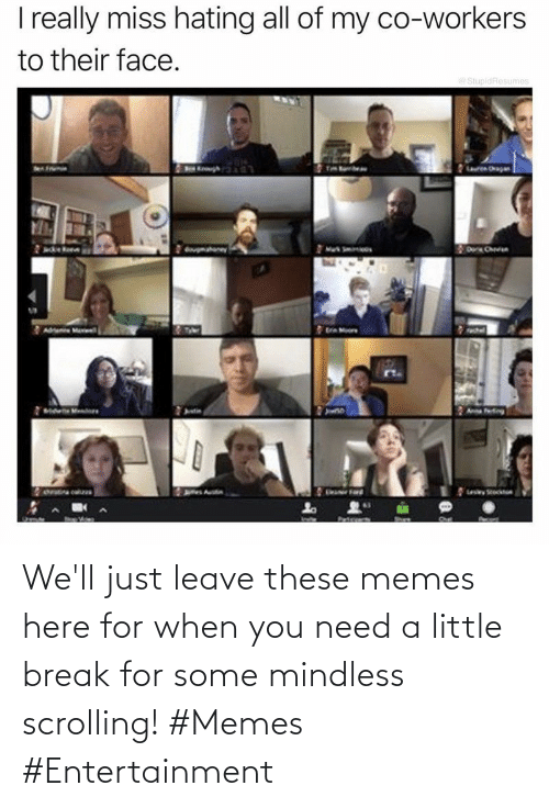 Memes, Break, and Entertainment: We'll just leave these memes here for when you need a little break for some mindless scrolling! #Memes #Entertainment