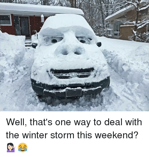 well thats one way to deal with the winter storm 12014164 ✅ 25 best memes about winter storm winter storm memes