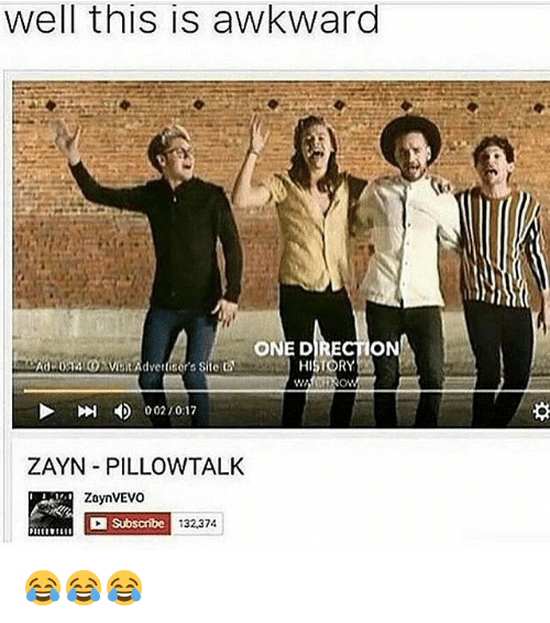 Well This Is Awkward ONE DIRECTION AdLOM Advertisers Site