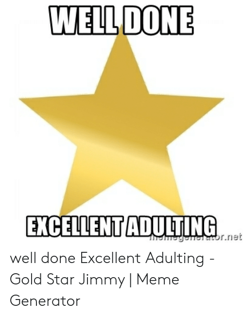 WELLDONE EXCELLENTADULTING Well Done Excellent Adulting - Gold Star