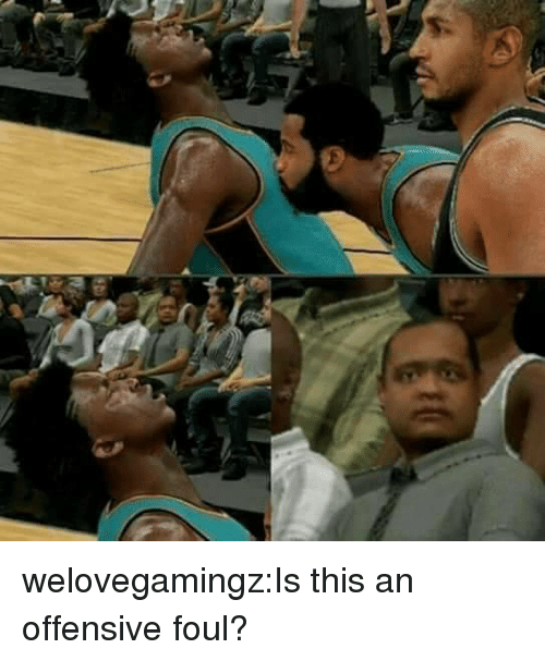 Tumblr, Blog, and Com: welovegamingz:Is this an offensive foul?
