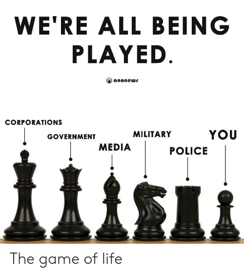 Life, Police, and The Game: WE'RE ALL BEING  PLAYED  anonews  CORPORATIONS  YOU  MILITARY  GOVERNMENT  MEDIA  POLICE The game of life