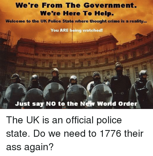 Were From Government And Were Here To >> We Re From The Government Were Here To Help Welcome To The Uk Police