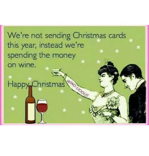 we re not sending christmas cards this year instead we re spending