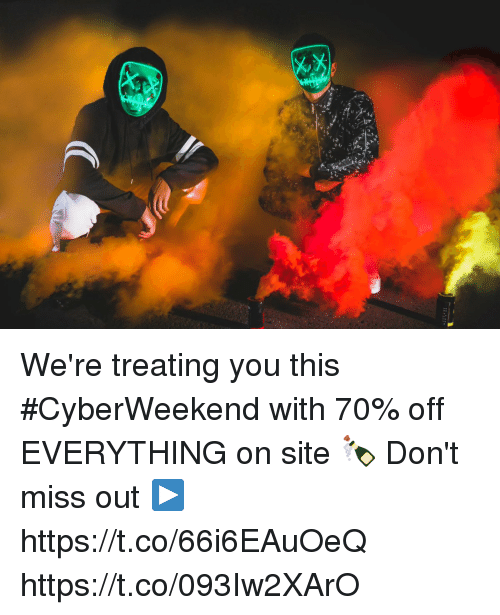 Memes, 🤖, and Site: We're treating you this #CyberWeekend with 70% off EVERYTHING on site 🍾  Don't miss out  ▶️ https://t.co/66i6EAuOeQ https://t.co/093Iw2XArO