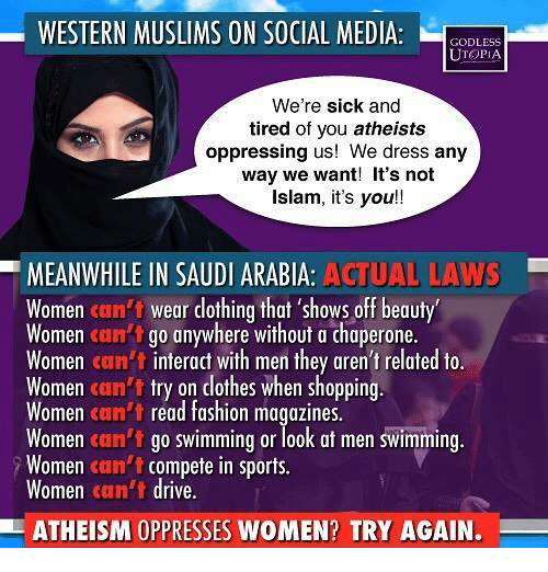 WESTERN MUSLIMS ON SOCIAL MEDIA L GODLESS UTOPIA We're Sick and