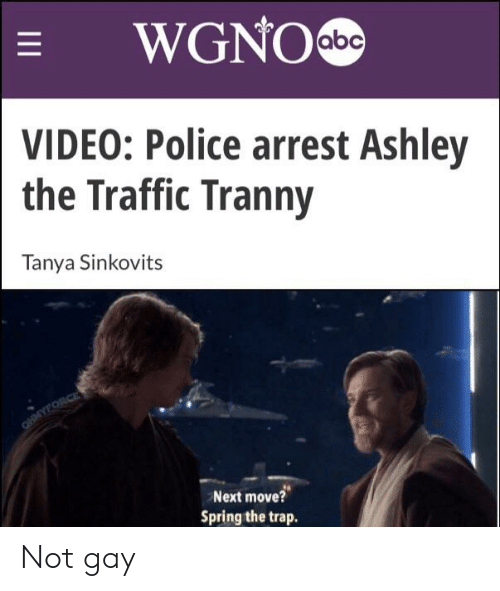 WGNOabe VIDEO Police Arrest Ashley the Traffic Tranny Tanya