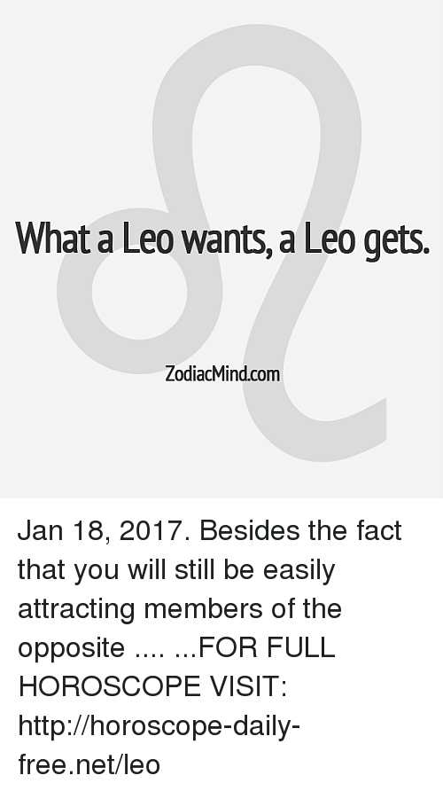 january 18 horoscope leo leo