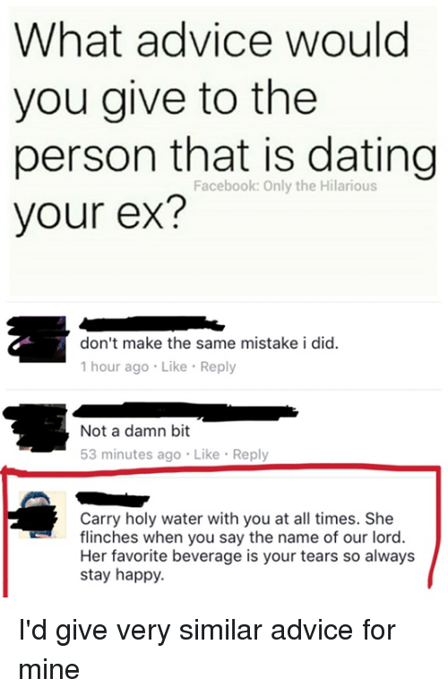 dating someone with your exs name