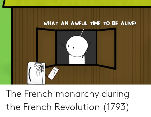 Alive, Revolution, and Time: WHAT AN A WFUL TIME TO BE ALIVE!  Diagnosis The French monarchy during the French Revolution (1793)