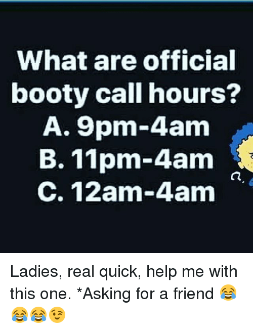 booty call hours