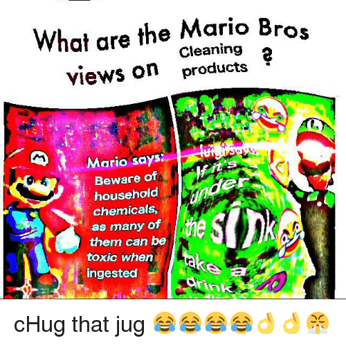 What Are The Mario Bros Cleaning 2 Views On Products Mario Says