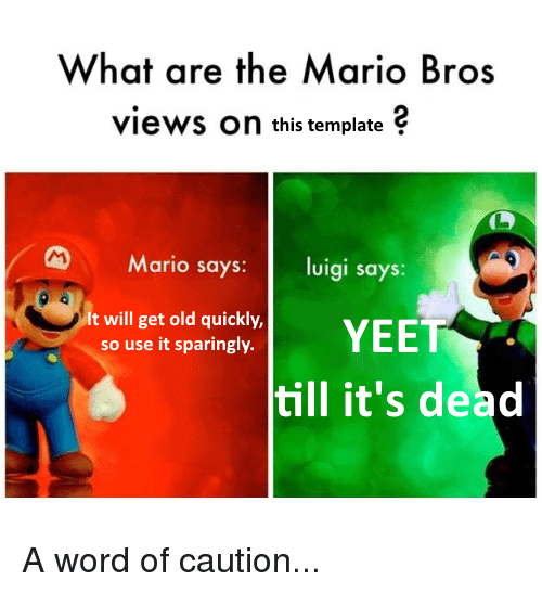 What Are The Mario Bros Views On This Template Mario Says Vigi