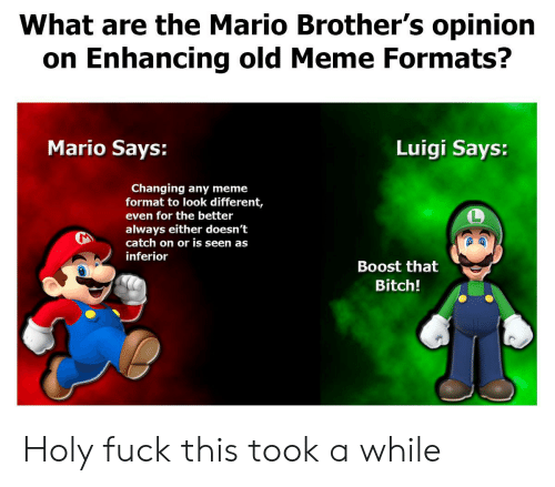 What Are The Mario Brother S Opinion On Enhancing Old Meme