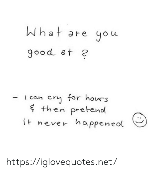 Never, Net, and Cry: What are you  900d at 2  cry for hours  then pretend  i never happeneol  Ican https://iglovequotes.net/