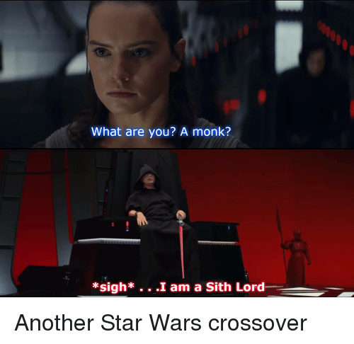 Sith, Star Wars, and The Office: What are you? A monk?  *sigh*. . .I am a Sith Lord Another Star Wars crossover